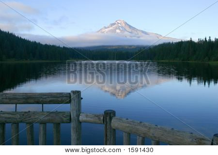 Mount Hood From Todd Lake, In Oregon