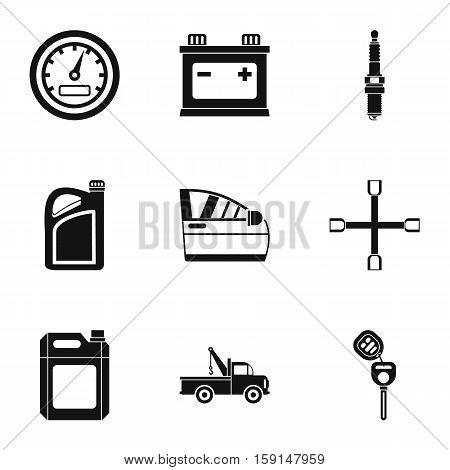 Renovation for machine icons set. Simple illustration of 9 renovation for machine vector icons for web
