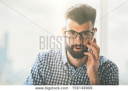 Handsome Guy On Phone