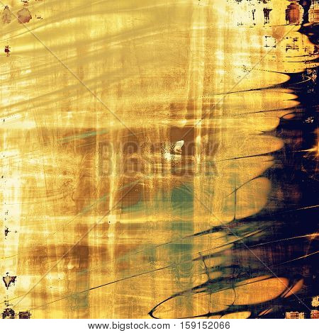 Vintage background with dirty grungy texture or overlay and different color patterns: yellow (beige); brown; gray; green; blue; black