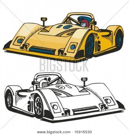 Sports car. Vector Illustration