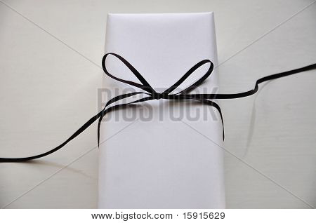 White present with ribbon