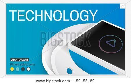 Smart Watch Gadget Invention Technology Concept