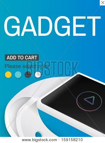 Smart Watch Gadgets Invention Technology Concept