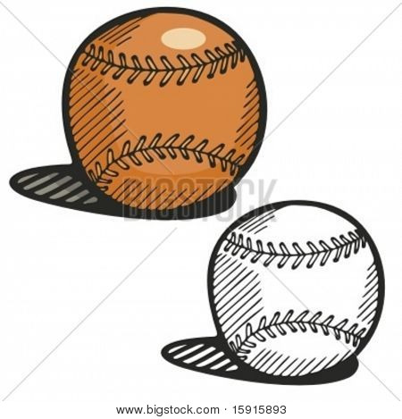 Baseball ball. Vector illustration