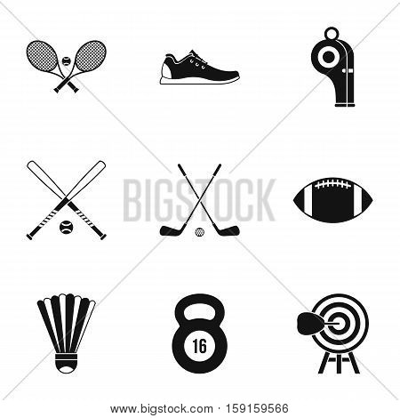 Training icons set. Simple illustration of 9 training vector icons for web