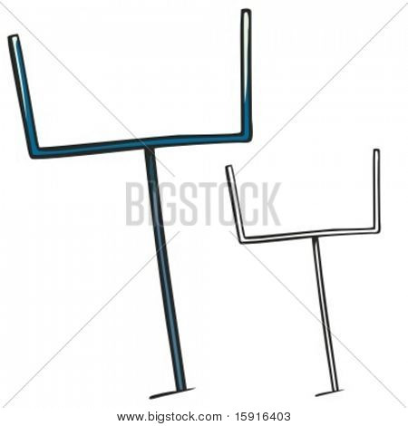 American football goal post. Vector illustration