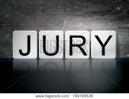 Jury Tiled Letters Concept And Theme