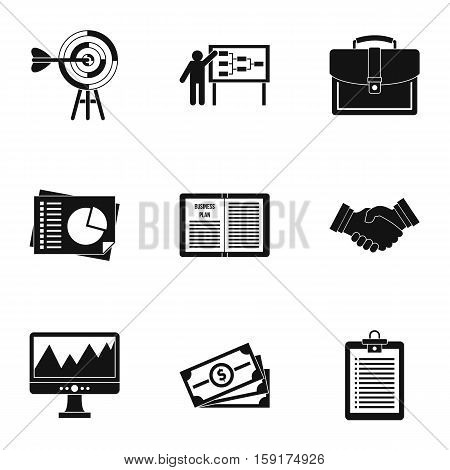 Earnings icons set. Simple illustration of 9 earnings vector icons for web