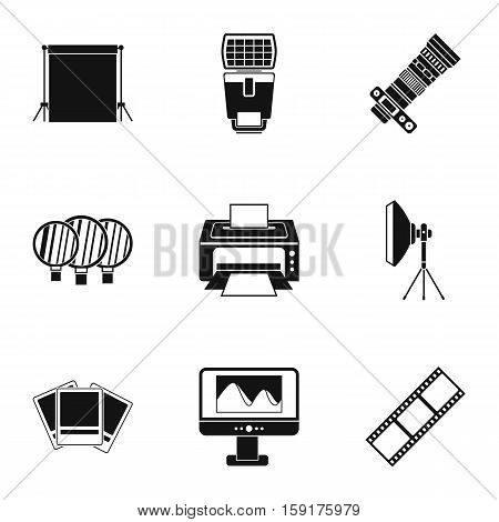 Taking photo icons set. Simple illustration of 9 taking photo vector icons for web