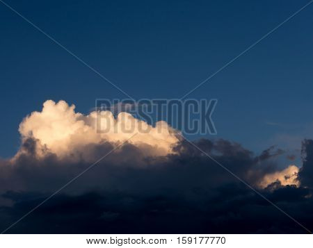 The white clouds background and texture.