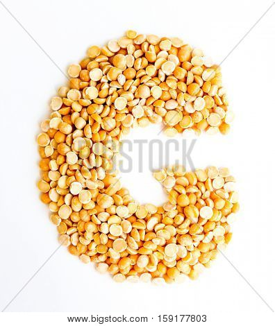The peas Initials letter G.