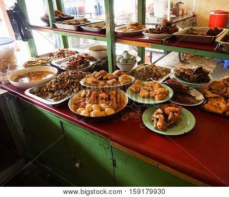 indonesian food warteg restaurant traditional in indonesia jakarta