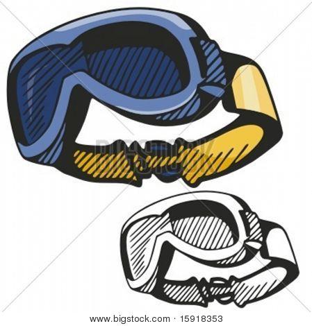 Ski Goggles Vector Ski Goggles Vector
