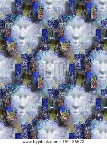 Repeating faces   3D Render