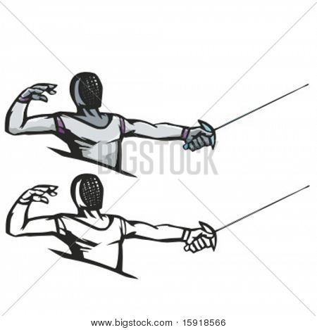 Fencer vector illustration.