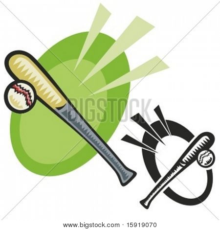 Baseball bat. Vector illustration
