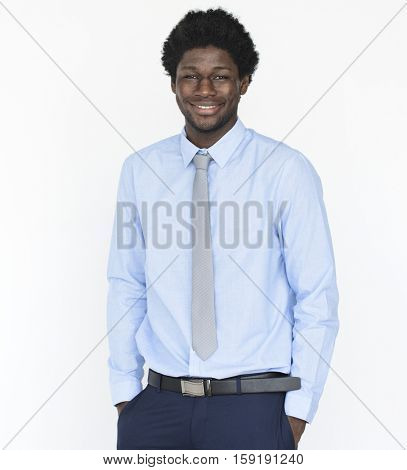 African American Man Business Confident Concept
