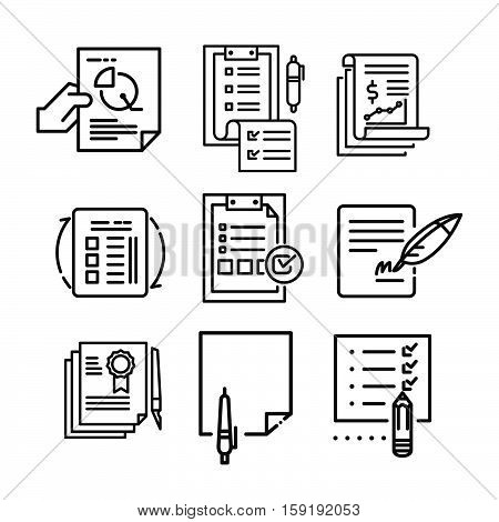 paperwork icon set vector illustration design eps 10