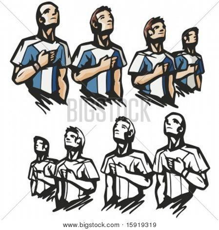Nationalhymne. Vektor-illustration