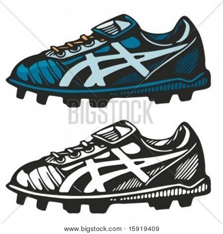 Fußball-Schuhe. Vektor-illustration