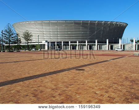 Cape Town, South Africa - November 16, 2016:The Cape Town Stadium is a stadium that was built for the 2010 FIFA World Cup. During the planning stage, it was known as the Green Point Stadium.