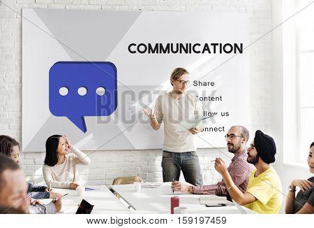 Social Network Communication Connection Concept