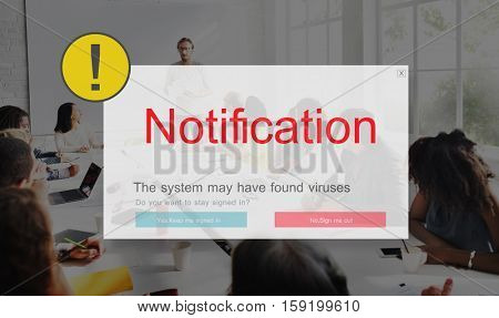 Exclamation Warning Caution Popup Concept