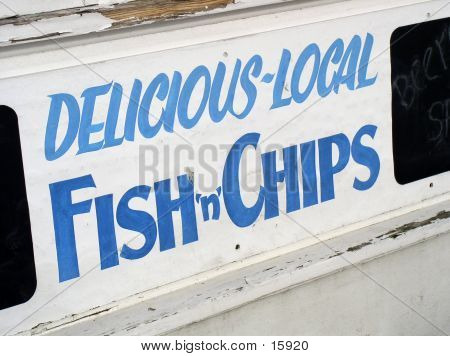 Fiah And Chip Sign