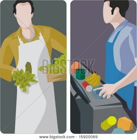 A set of 2 vector illustrations. 