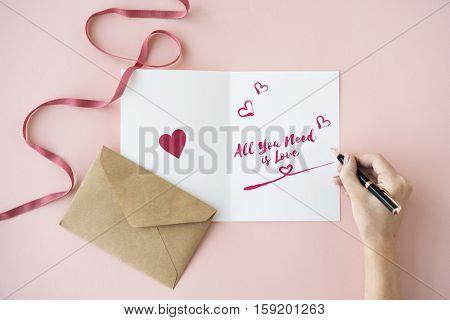 Love Like Adore Affection Care Passion Romance Concept