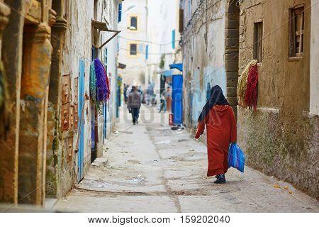 Woman On The Street Of Essaouira, Morocco