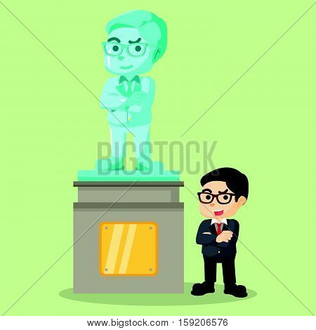 Proudly with own statue eps10 vector illustration design