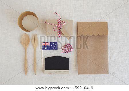 Australian day identity branding eco mockup set