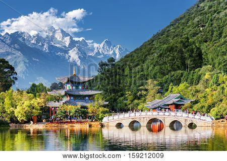 Amazing View Of The Jade Dragon Snow Mountain, Lijiang, China