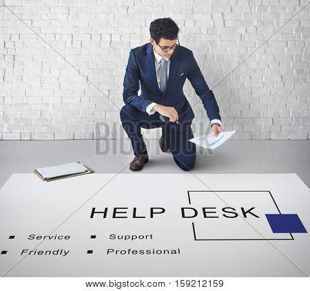 Help Desk Customer Service Support Concept