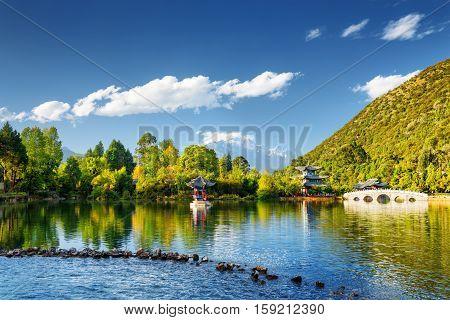 The Black Dragon Pool, Lijiang, Yunnan Province, China