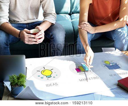 Ideas Team Success Marketing Quality Product Concept