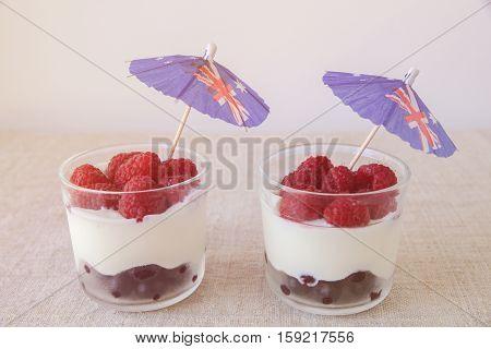 Australian day healthy pudding breakfast or dessert