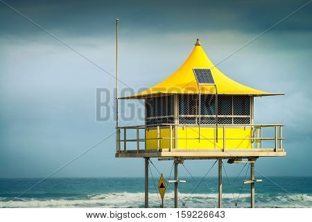 Surf life saving tower in Goolwa South Australia