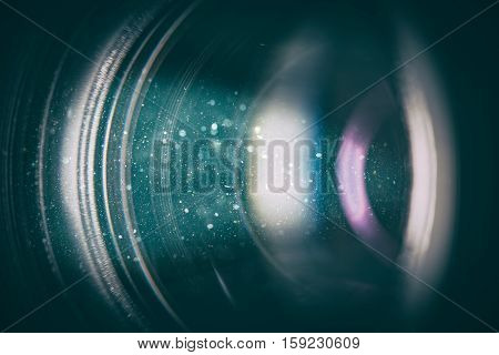 flare lens camera background macro light flash real bright film focus performance dust black optical color glowing concept - stock image
