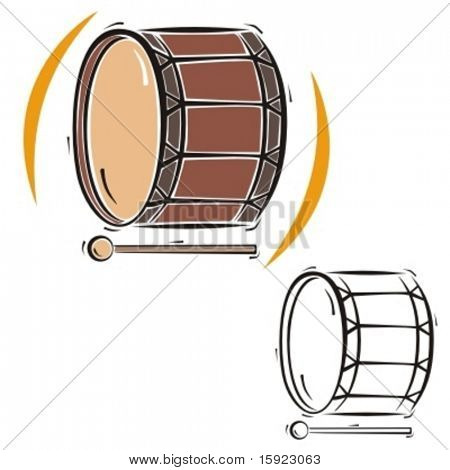 Music Instrument Series. Vector illustration of a drum.