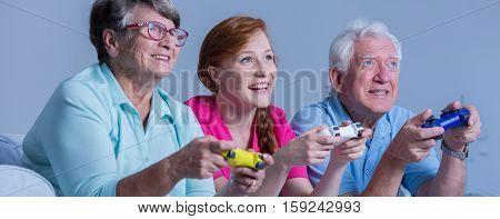 Nurse Playing With Seniors