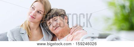Girl And Grandmother Together