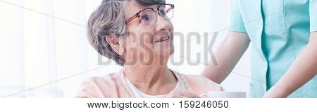 Grateful Older Woman