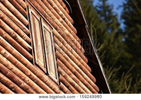 Natural Wooden House Detail