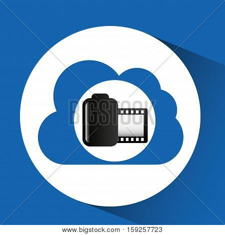 cloud computing roll camera photo vector illustration eps 10
