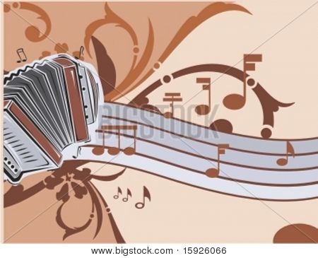 Musical Background-Floral Style Series.