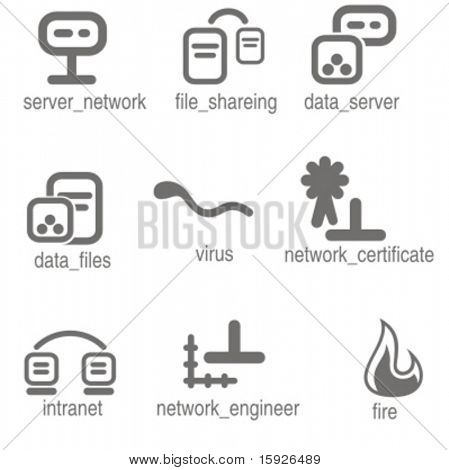 Networking icons set 7. Check my portfolio for many more images from this series.