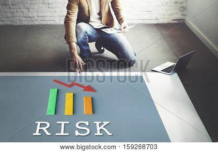 Risk Graph Data Analysis Concept